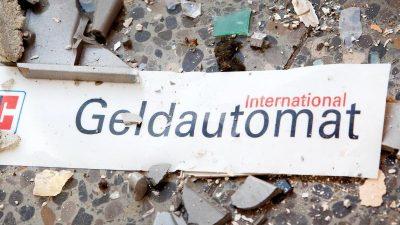 Panzerknacker plündern doppelt so viele Geldautomaten in NRW