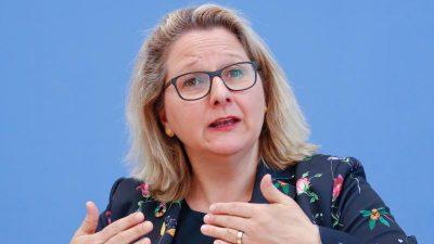 Umweltministerin will deutschen Ökostrom-Anteil deutlich steigern – trotz wachsendem Bedarf an Auslandsstrom