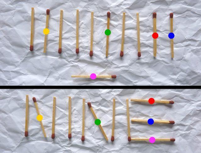 Rätselhafte Streichölzer (1) Mathematik