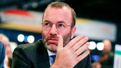 EU: Weber will strenge Kontrollen für Corona-Hilfen und zwölfmonatiges Übernahme-Verbot für China