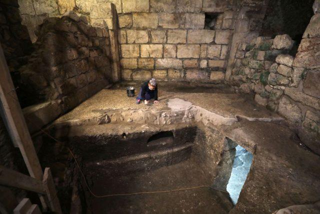 Blick auf unterirdische Räume