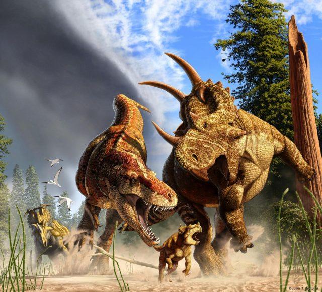 Cousin des T. rex auf der Jagd