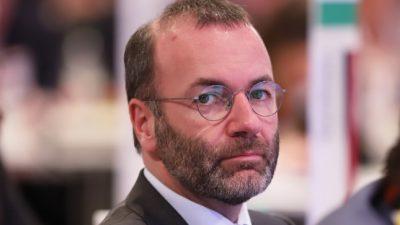 """EVP-Fraktionschef Weber: Mit """"diplomatischem Druck"""" gegen China-Politik"""