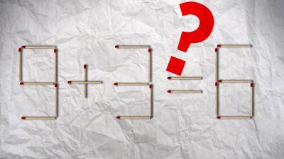 Rätselhafte Streichhölzer (2) – Wer hat die zündende Idee?