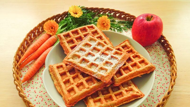 Frühstückswaffeln zum Tag des Waffeleisens.