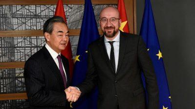 Von Spannungen überschatteter EU-Gipfel mit China angelaufen