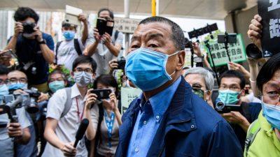 Hongkonger Medienunternehmer Lai erneut zu Haftstrafe verurteilt