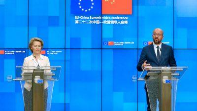 EU-China-Gipfel: Brüssel kritisiert Peking, doch konsequente Schritte bleiben aus