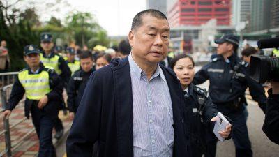 Ermittlungsverfahren gegen Hongkonger Medienunternehmer Jimmy Lai eingeleitet