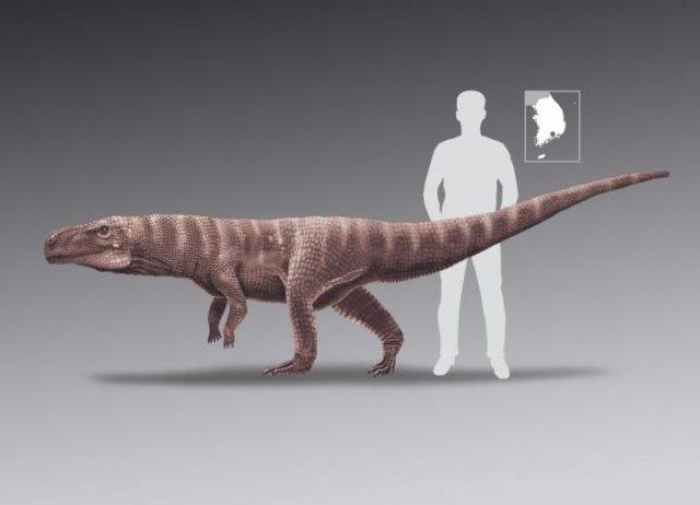 Zweibeinige Krokodile Rekonstruktion