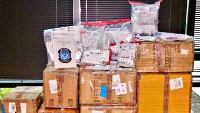Drogen, Waffen und gefälschte Virustest-Sets: US-Zoll beschlagnahmt illegale Waren aus China im Wert von 1,7 Mio Euro