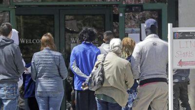 US-Arbeitslosenmeldungen erneut überraschend angestiegen