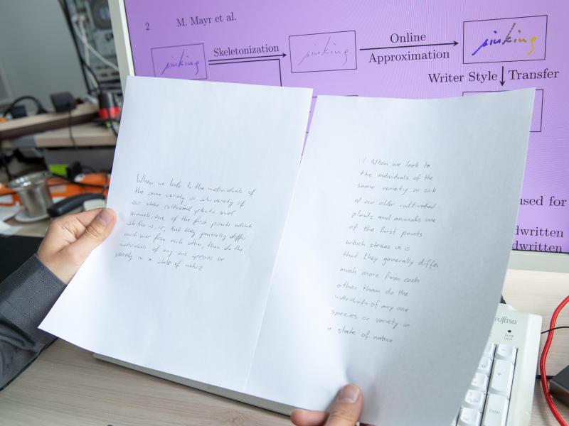 Künstliche Intelligenz imitiert Handschriften