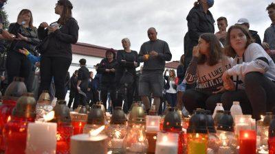Trauer nach tödlichem Messerangriff an slowakischer Schule