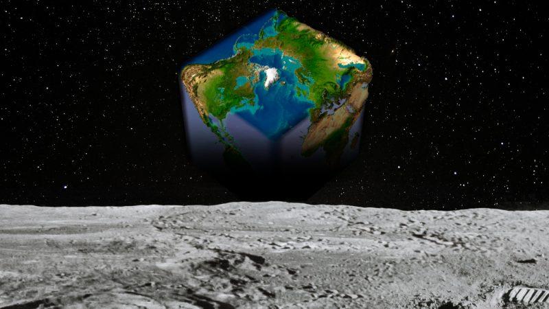 Die Erde ist ... ein Würfel.