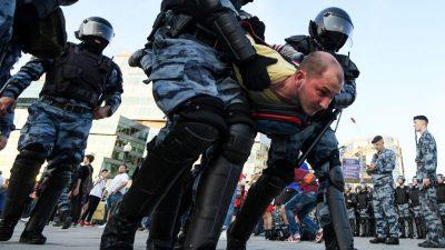 Russland: Mehrere Festnahmen bei Demo für Freilassung von Ex-Reporter