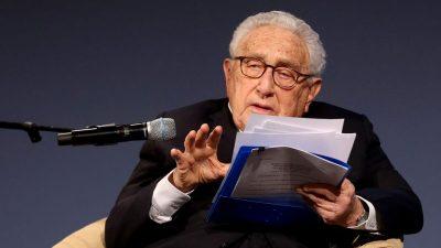 """Pompeo: Kissingers """"Diplomatie um jeden Preis"""" gegenüber China hat sich als Flop erwiesen"""