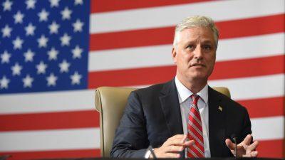 USA: Trumps Nationaler Sicherheitsberater O'Brien positiv auf Wuhan-Virus getestet