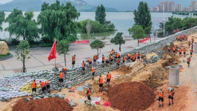 Rekord-Level am Poyang: Chinas größter Süßwassersee erreicht Flutmarke von 1998 … und steigt weiter