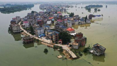"""Überschwemmungen in Südchina immer schlimmer – Staats-TV sagt: """"Illusion"""""""