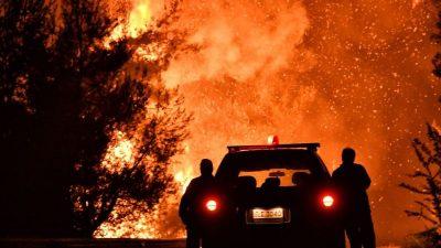 14-Jähriger flüchtet mit dem Auto vor den Flammen in Kalifornien