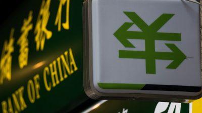 Kapitalflucht aus China erreicht Vier-Jahres-Hoch