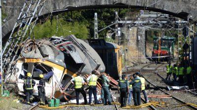 Schweres Zugunglück in Portugal: Zwei Tote und viele Verletzte