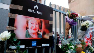 Frankreich: Mutmaßliche Mörder von 85-jähriger Holocaust-Überlebender sollen vor Gericht