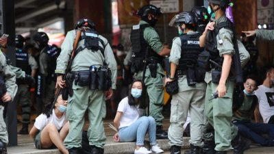 Am 23. Jahrestag der Übergabe Hongkongs an China: Mindestens 300 Festnahmen am 1. Tag des neuen Sicherheitsgesetzes