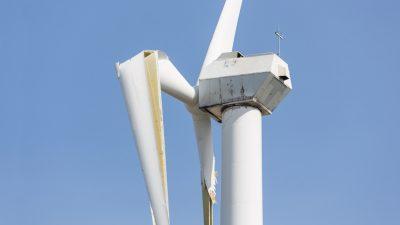 Windkraftanlagen sind grün – aber nicht recycelbar