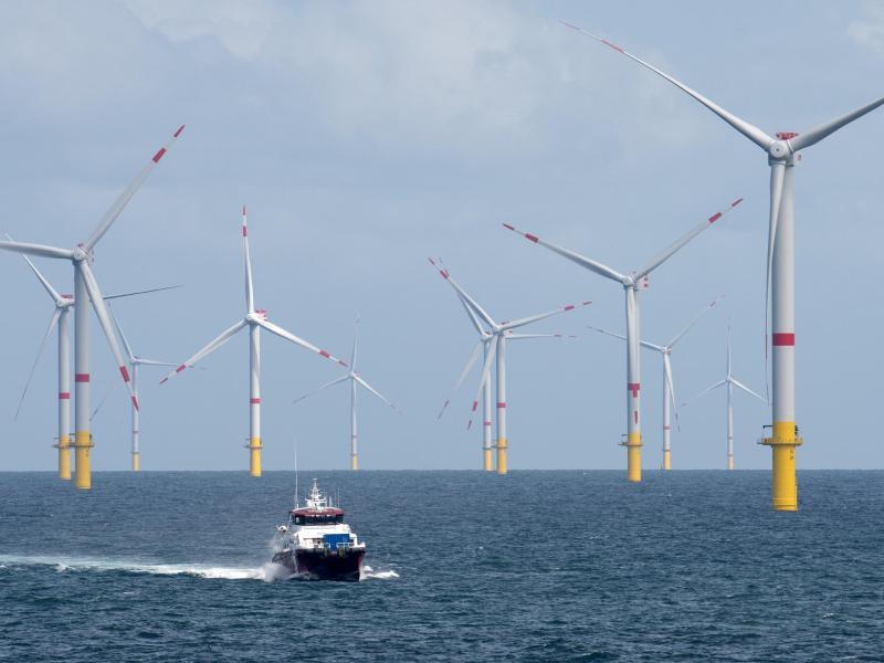 Windparks auf der Nordsee liefern gut 21 Prozent mehr Strom