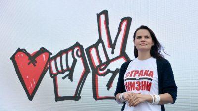 Belarussische Oppositionsführerin Tichanowskaja im Europarat