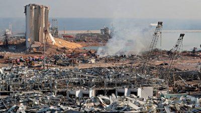 Libanon: THW und Bundeswehr haben Arbeit in Katastrophengebiet von Beirut aufgenommen