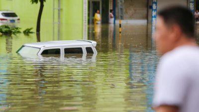 Starker Regen trifft erneut Jangtse-Gebiet – Überschwemmte Städte und 4 Millionen Obdachlose