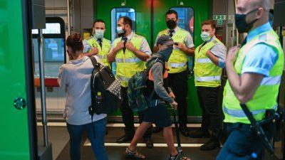 Ab September: Maskenpflicht in der Bahn wird stärker kontrolliert, Waffenrecht verschärft