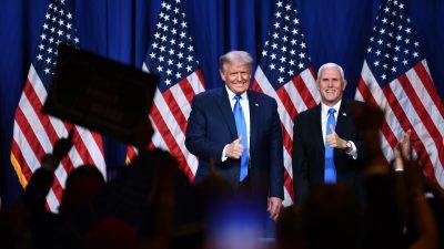 Trump und Pence senden Signal des Zusammenhalts