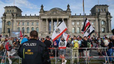 Thüringer Verfassungsschutz: Corona-Demo in Berlin Erfolg für rechte Szene