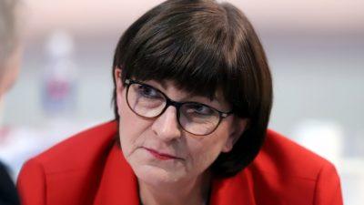 Esken sieht sich nicht als Übergangsvorsitzende der SPD