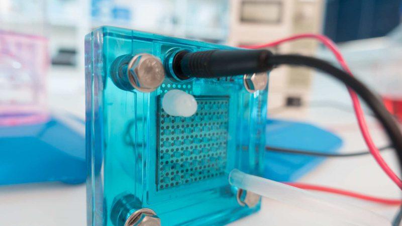 Brennstoffzellen im Labor