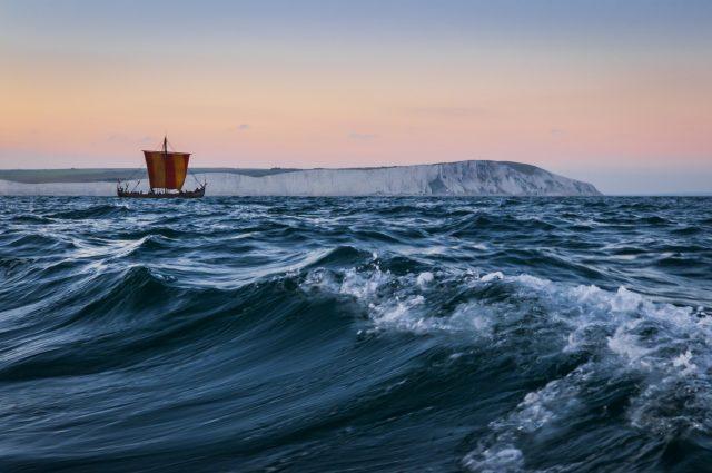 Klassisches Schiff der Wikinger