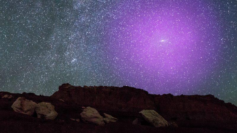 Andromedagalaxie am Nachthimmel