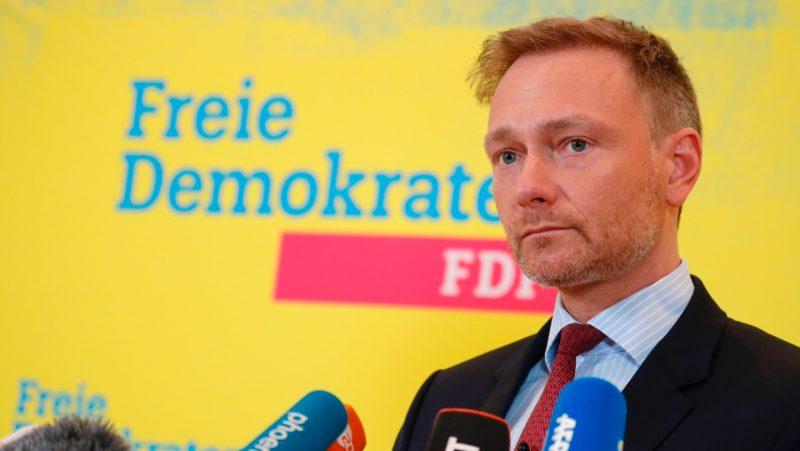 Lindner kann sich Ampelbündnis mit Grünen und SPD nicht vorstellen