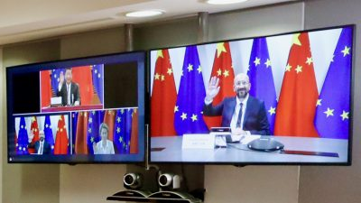 14. September: Video-Gipfel von Merkel und EU-Spitzen mit Chinas Präsident Xi
