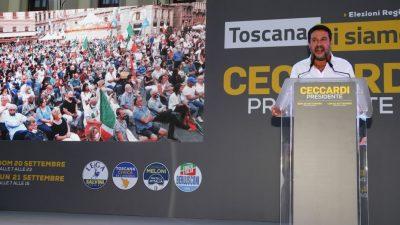 Italienische Regionalwahlen: Salvini hofft auf Sieg der Lega in roter Hochburg der Toskana