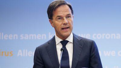 """Mark Rutte: """"Ungarn hat in der EU nichts mehr zu suchen"""""""