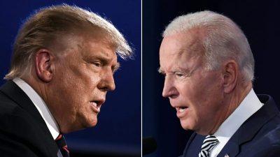 Trump und Biden: Statt Fernsehduell gleichzeitige TV-Interviews in Miami und Philadelphia