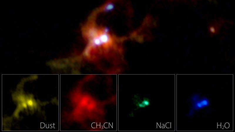 Astronomen entdecken zwei Babysterne in salziger kosmischer Suppe
