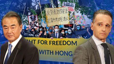 Maas weg, Wang weg – Demonstranten allein am Außenministerium: Leise Töne statt Aufrichtigkeit?