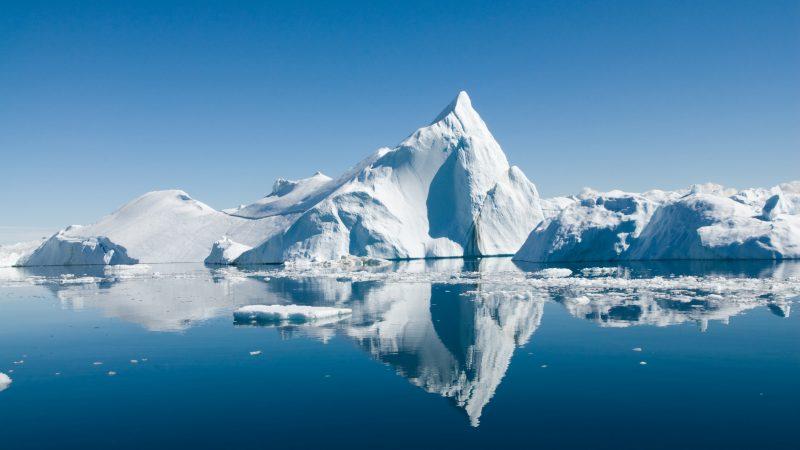 Ein Eisberg vor Grönland.