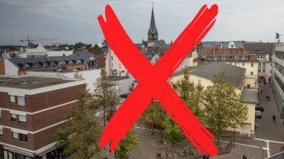 """Das rote """"X"""" in Gießen: Linke Öko-Terroristen markieren 200 gegnerische Autos zum Verbrennen"""
